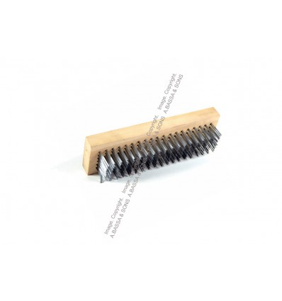 BRUSHES STEEL WIRE 6 ROW BLOCK