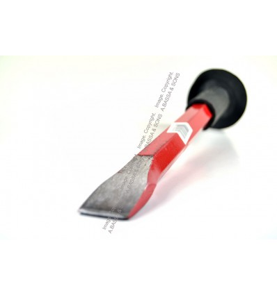 CHISEL HEAVY STEEL 20MM X 300MM WITH RUBBER GRIP