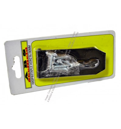 SAFETY HASP AND STAPLE HORIZONTAL BLACK JAPAN 90MM