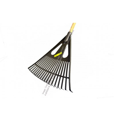 RAKES FAN WITH WOODEN HANDLE BLACK 19T