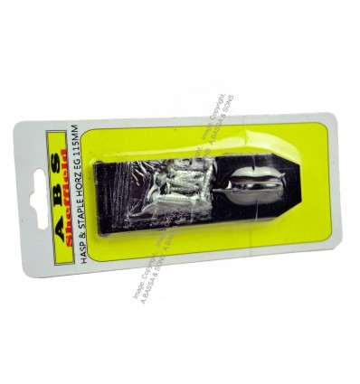 SAFETY HASP AND STAPLE HORIZONTAL BLACK JAPAN 115MM