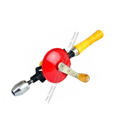 "DRILL HAND 3/8"" 9.3MM WOODEN HANDLE"