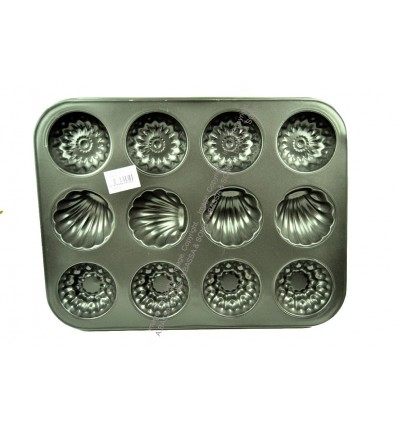 BAKING TRAY 12 CUP 5 ASSORTED DESIGNS