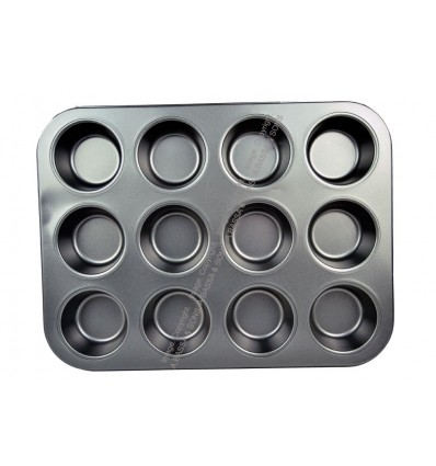 BAKING TRAY 12 CUP ROUND DESIGN