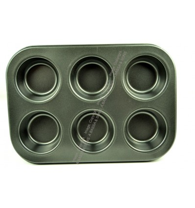 BAKING TRAY 6 CUP ROUND DESIGN