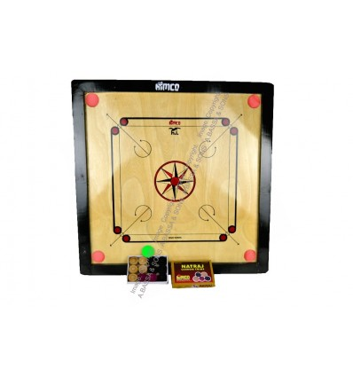 CARROM BOARD 60CM WITH BEADS & STRIKER