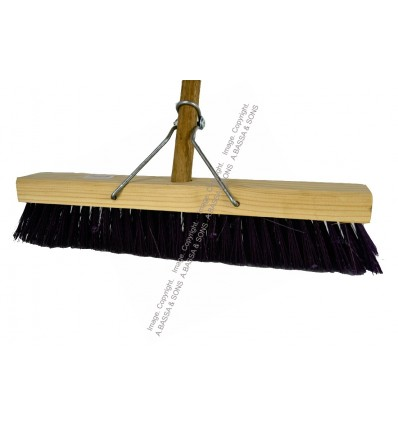 BROOM YARD 380MM WITH WOODEN HANDLE