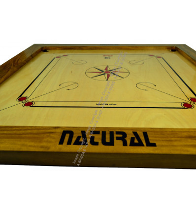 CARROM BOARD 75CM NATURAL WITH BEADS & STRIKERS