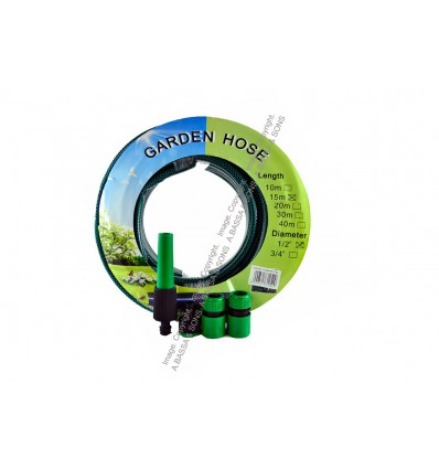 """HOSE PIPE 1/2""""X15MT WITH FITTING"""